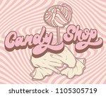 candy shop. vector hand drawn...   Shutterstock .eps vector #1105305719
