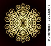 card with christmas snowflake   Shutterstock . vector #110530646