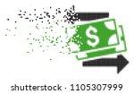fractured money exchange dotted ...   Shutterstock .eps vector #1105307999