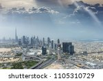 aerial view of modern city... | Shutterstock . vector #1105310729