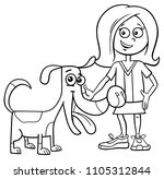 black and white cartoon... | Shutterstock .eps vector #1105312844