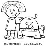 black and white cartoon... | Shutterstock .eps vector #1105312850