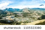 aerial view of mountain... | Shutterstock . vector #1105323380