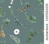 blue seamless pattern... | Shutterstock . vector #1105324220