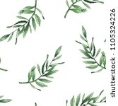 leaves branches watercolor... | Shutterstock . vector #1105324226