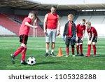 full length portrait of junior... | Shutterstock . vector #1105328288