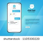 online chatbot app with... | Shutterstock .eps vector #1105330220