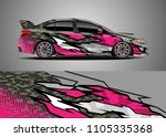 car decal vector  graphic...   Shutterstock .eps vector #1105335368