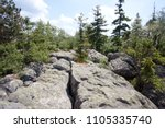 landscape of table mountains ... | Shutterstock . vector #1105335740