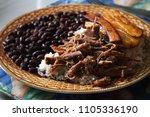 homemade venezuelan food.... | Shutterstock . vector #1105336190