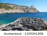 Small photo of Salento, Italy. Ionian sea coast with Torre Santa Maria dell'Alto, also known as Torre dell Alto (Dell'Alto watchtower)