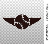 baseball or softball with wings ... | Shutterstock .eps vector #1105344518