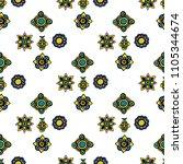 dark color tribal navajo ... | Shutterstock . vector #1105344674