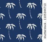 palm tree pattern seamless... | Shutterstock . vector #1105344713
