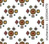 abstract tribal vintage ethnic... | Shutterstock . vector #1105344770