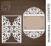 laser cut wedding invitation... | Shutterstock .eps vector #1105345970