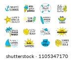 summer holidays   funny hand... | Shutterstock .eps vector #1105347170