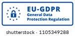 eu gdpr label illustration | Shutterstock .eps vector #1105349288