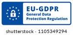 eu gdpr label illustration | Shutterstock .eps vector #1105349294