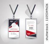 corporate id card design... | Shutterstock .eps vector #1105349636