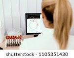 woman scientist studying new... | Shutterstock . vector #1105351430