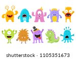 cute monster collection | Shutterstock .eps vector #1105351673