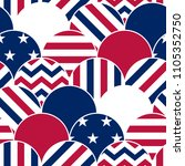 Us Flag Style Seamless Pattern...