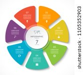 infographic circle chart.... | Shutterstock .eps vector #1105352903