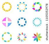 colorful flower logo  symbol ... | Shutterstock .eps vector #1105352978