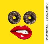 Modern Art Collage.  Cake Eyes...