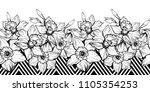 monochrome seamless horizontal... | Shutterstock .eps vector #1105354253