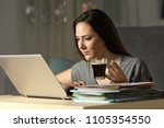 self employed working late... | Shutterstock . vector #1105354550