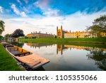 beautiful view of cambridge... | Shutterstock . vector #1105355066