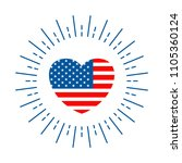 badge for independence day of... | Shutterstock .eps vector #1105360124