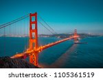 classic panoramic view of... | Shutterstock . vector #1105361519