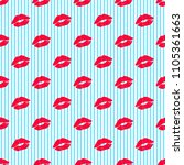 pink kisses pattern on...   Shutterstock .eps vector #1105361663
