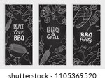 bbq and grill banners with... | Shutterstock .eps vector #1105369520