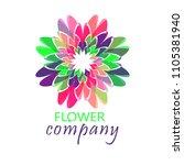colorful flower logo  symbol ... | Shutterstock .eps vector #1105381940