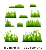 green grass vector illustration ... | Shutterstock .eps vector #1105384946
