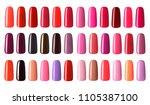 nail polish in different... | Shutterstock . vector #1105387100