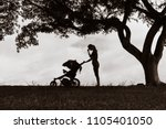 tired mother suffering from... | Shutterstock . vector #1105401050