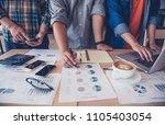 team businessman's job .... | Shutterstock . vector #1105403054