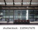 the new built glass shelter of... | Shutterstock . vector #1105417670