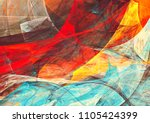 bright artistic splashes.... | Shutterstock . vector #1105424399