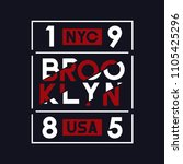 brooklyn  nyc  usa typography... | Shutterstock .eps vector #1105425296