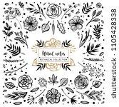 floral notes botanical... | Shutterstock .eps vector #1105428338