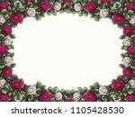 Stock photo alice in wonderland red roses and white roses on white background wonderland background rose 1105428530