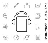 audio book icon. simple element ... | Shutterstock .eps vector #1105433090