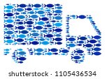 fish delivery lorry collage in...   Shutterstock .eps vector #1105436534
