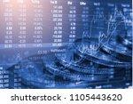 stock market or forex trading... | Shutterstock . vector #1105443620